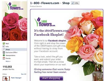 1800flowers facebook offer
