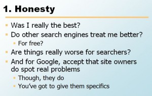 honesty SEO