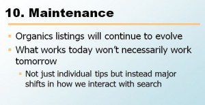 maintenance SEO